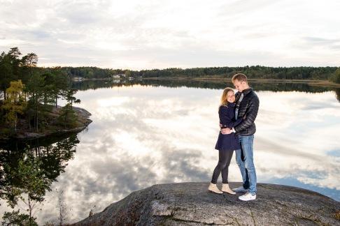 Parfotografering i Stockholm med Elisabeth och David.