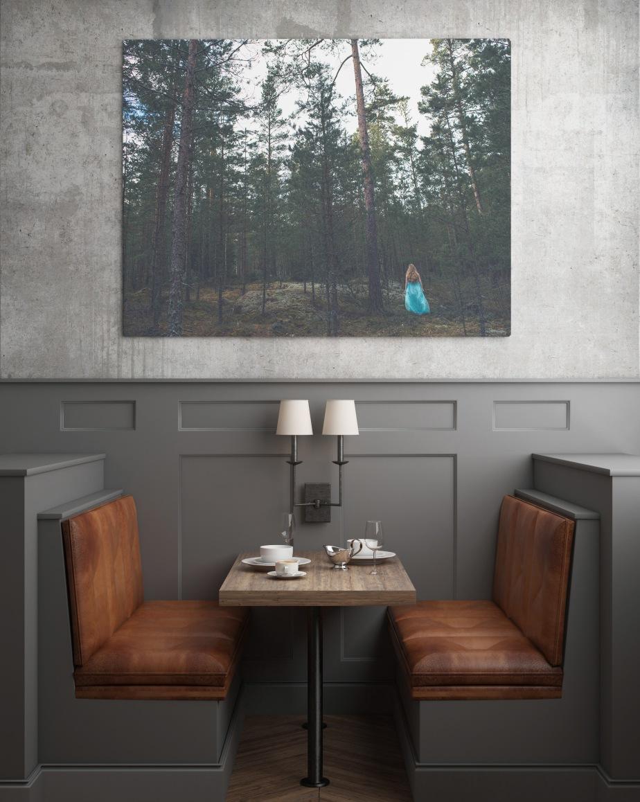 Fine art fotografi skog