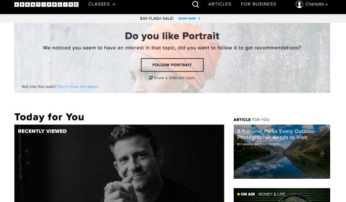 Creative Live Website