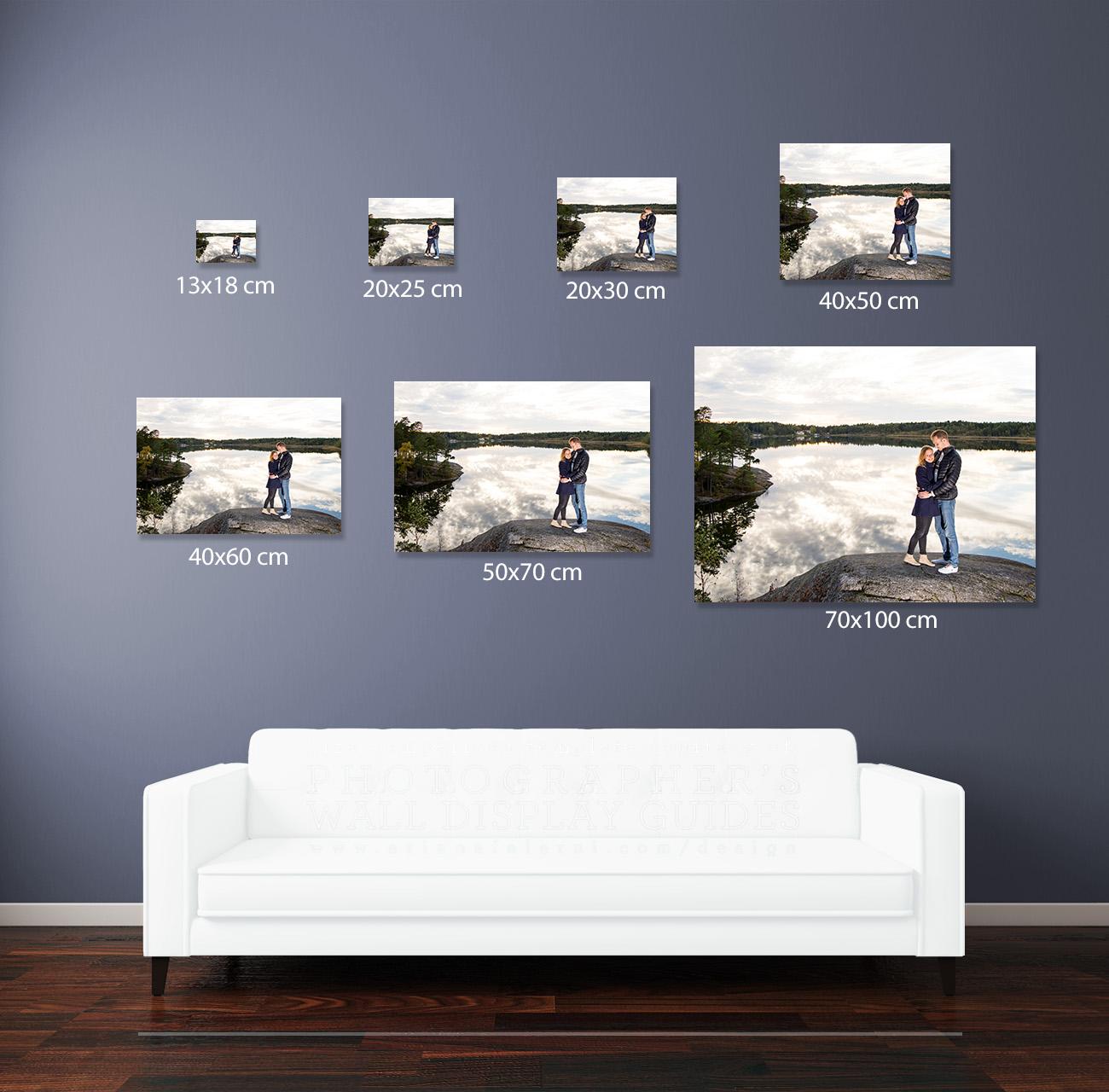 exempel bildstorlekar vägg